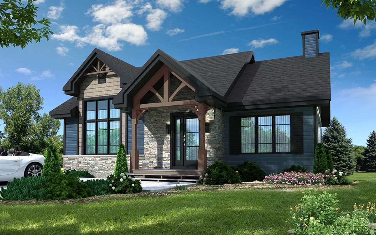 Plan 23789jd Rustic 3 Bed Northwest House Plan With First Floor Master House Plans Mountain House Plans House Blueprints