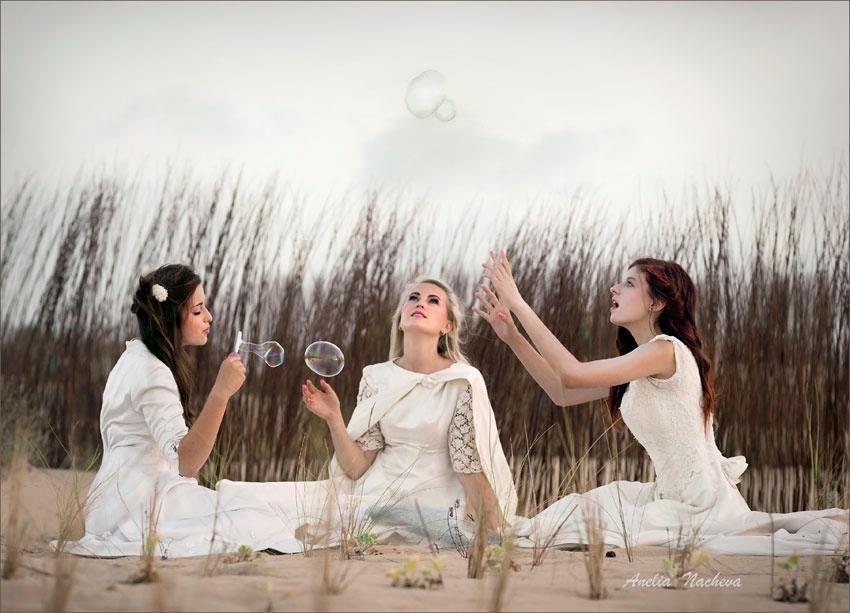 Fotografia: Anelia Petrova  Hair& styling: CerezoHair  Make up: Mayca  Modelos Ivana,Vera y ALina