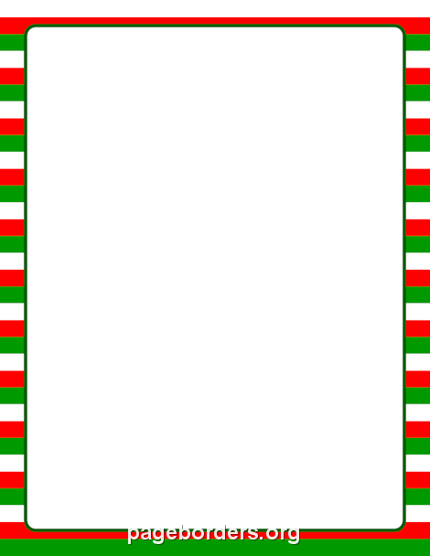 Free Christmas Striped Border Templates Including Printable Border Paper  And Clip Art Versions. File Formats Include GIF, JPG, PDF, And PNG.  Microsoft Word Page Border Templates