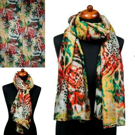 Fantasie sjaal Crazy Paint groen  Link: www.sjaals4you.nl/fantasie-sjaal-crazy-paint-groen.html
