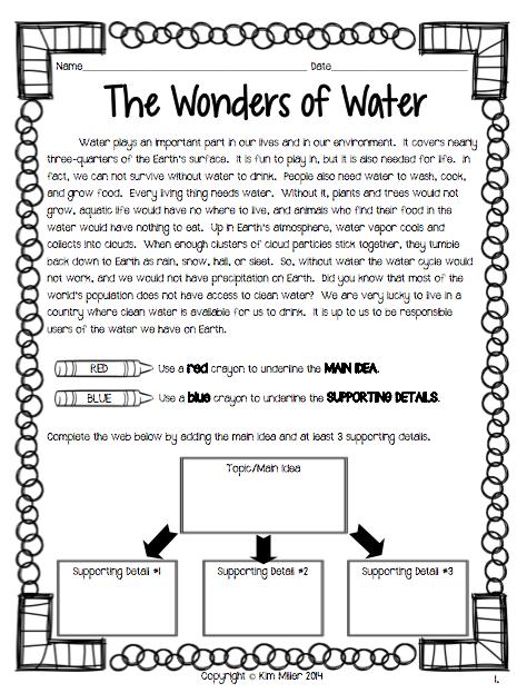 18++ Favorite main idea worksheets 6th grade Most Effective