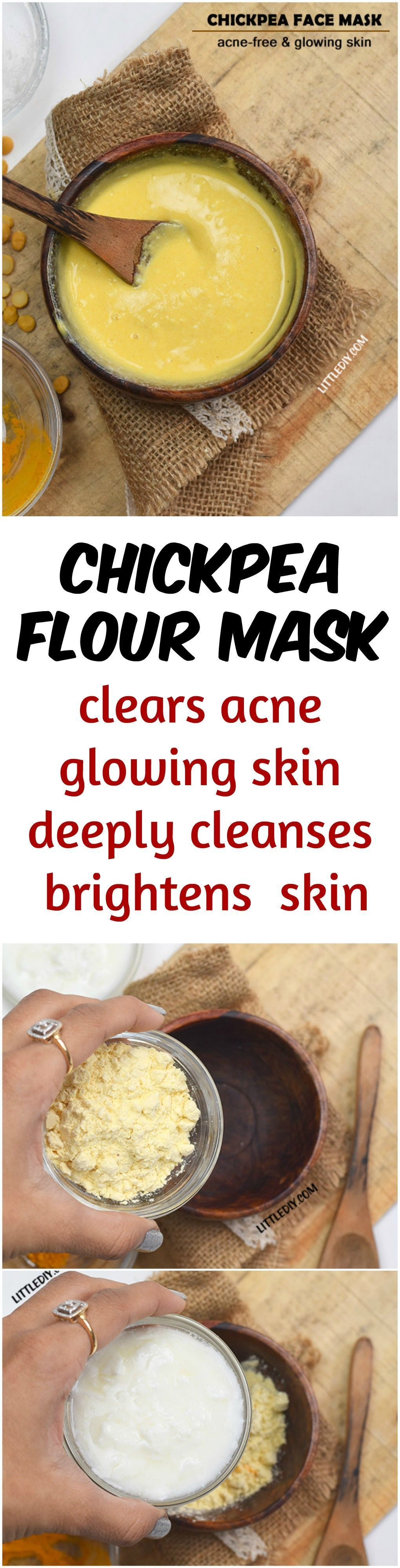 Chickpea flour mask for acne free glowing skin Homemade