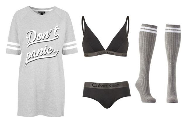 """""""Keep calm and sleep"""" by vaniefontanilla on Polyvore featuring Topshop, Calvin Klein and Charlotte Russe"""