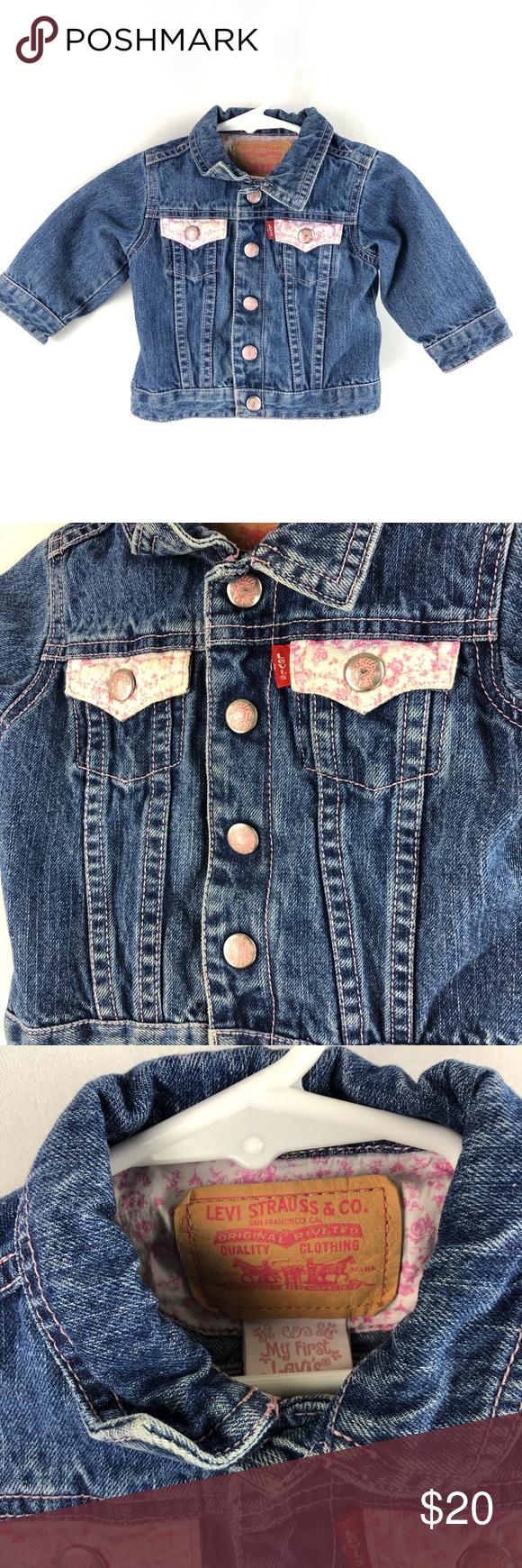 Levi S My First Levi S Baby Girl Jean Jacket Levi S My First Levi S Baby Girl Denim Jean Jacket Size Jean Jacket For Girls Baby Girl Jeans Girls Denim [ 1740 x 580 Pixel ]