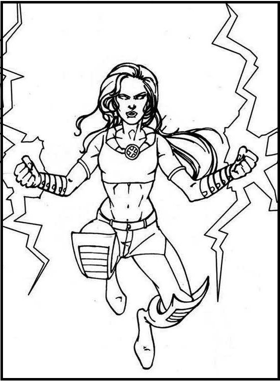 X Men Angry Storm Coloring Pages For Kids Ham Printable X Men Coloring Pages For Kids
