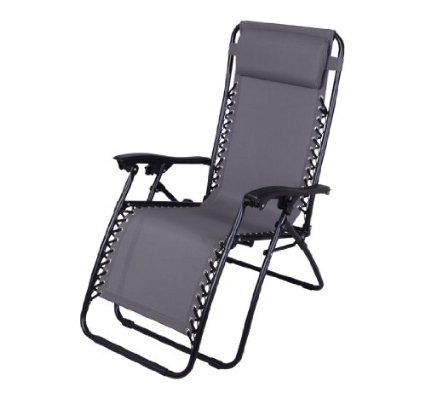 Amazon.com  Outsunny Zero Gravity Recliner Lounge Patio Pool Chair - Black  Patio  sc 1 st  Pinterest & Amazon.com : Outsunny Zero Gravity Recliner Lounge Patio Pool Chair ...