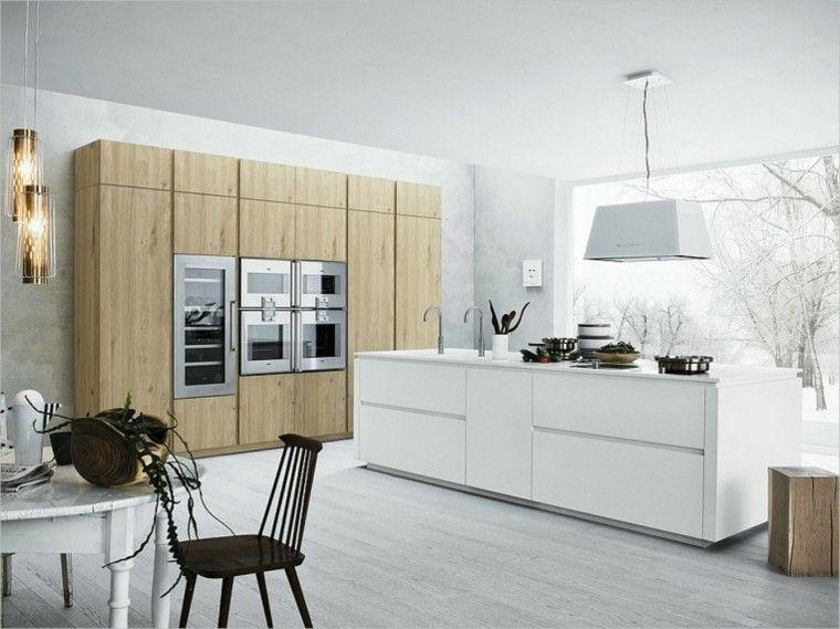 Color blanco y madera de roble para las cocinas modernas | Colores ...
