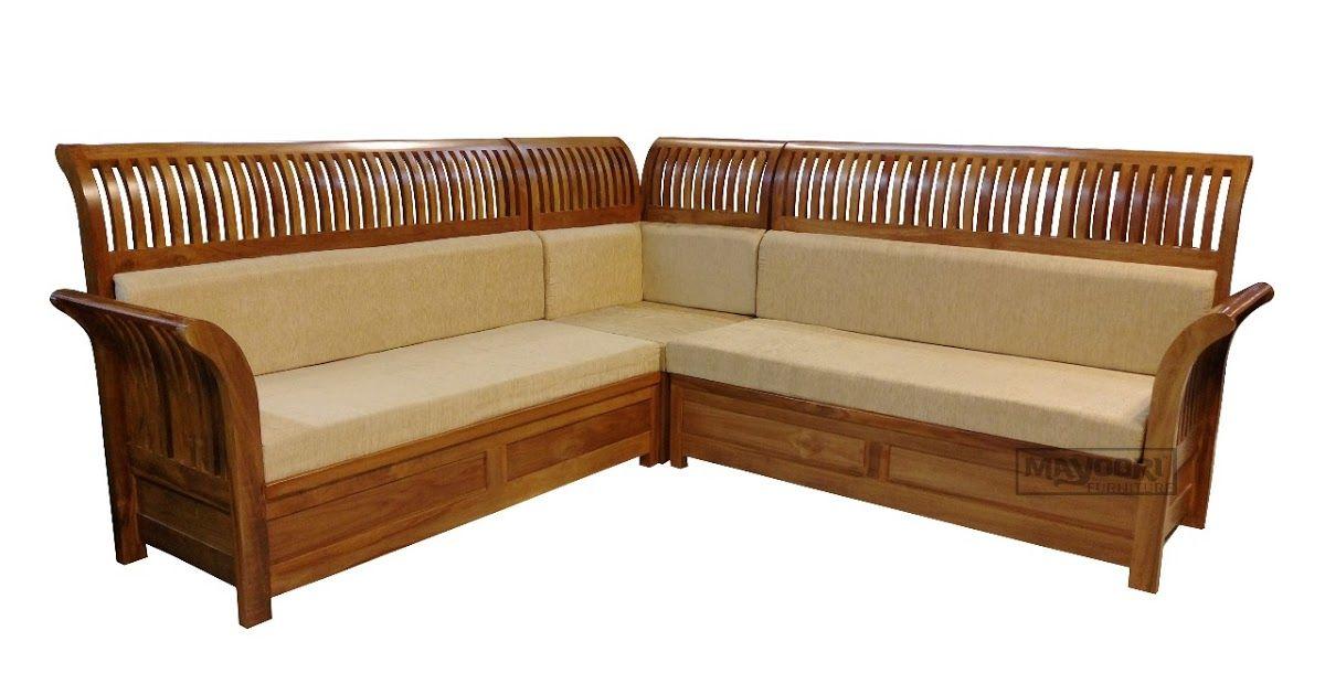 Corner Sofa Orchid Teak Wood New Model, Teak Wood Corner Sofa Set Designs Pictures