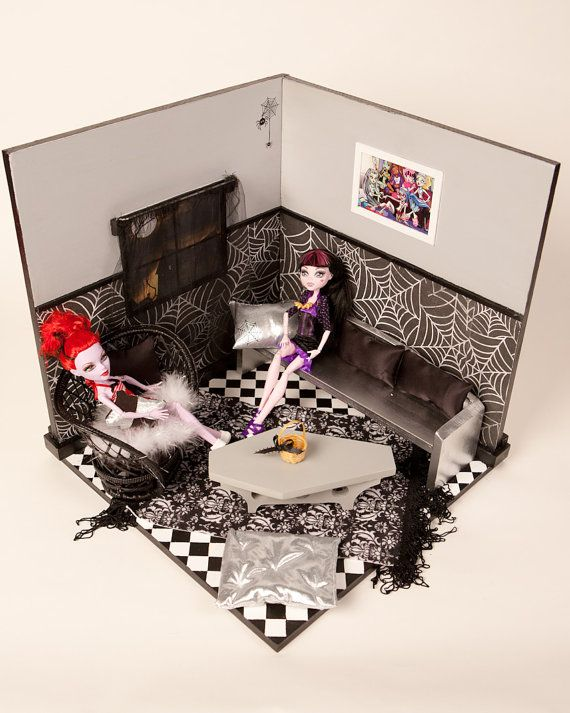 Les 25 meilleures id es de la cat gorie maison monster - Comment faire un lit superpose monster high ...