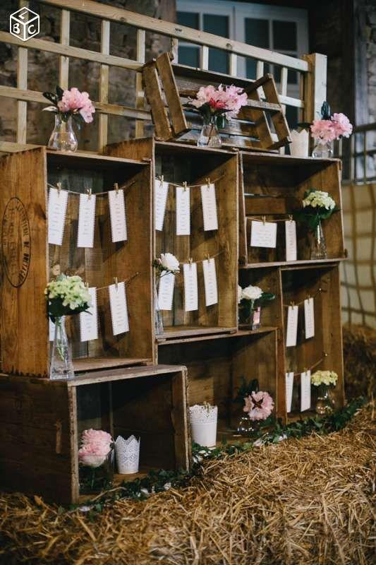 Caisses en bois décoration mariage Décoration Morbihan - leboncoin