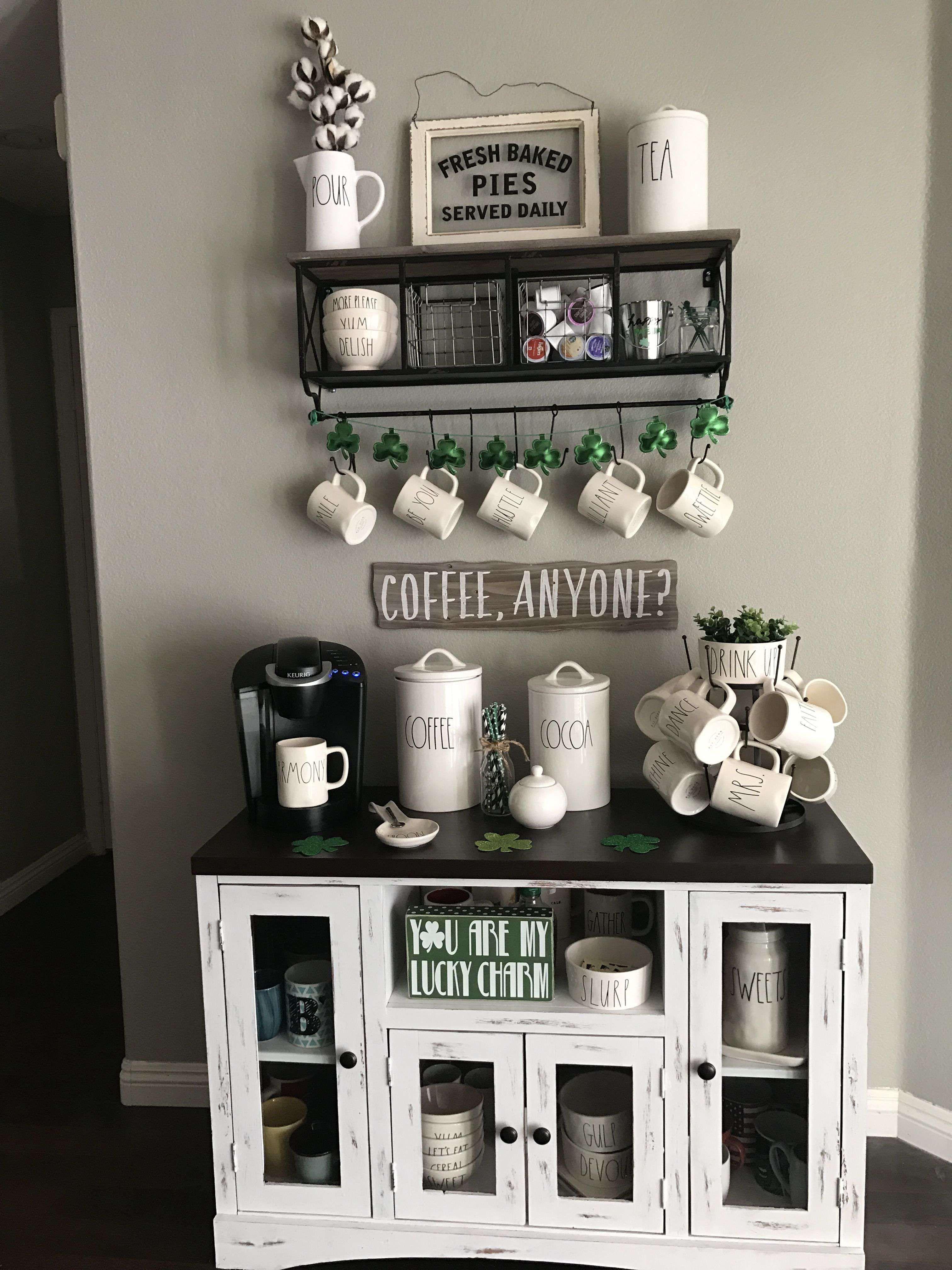 48 Stunning Diy Coffee Bar Ideas For Your Home Interior Design Ideasforyourhome Stunningdiycof Coffee Bar Home Farmhouse Coffee Bar Coffee Bars In Kitchen