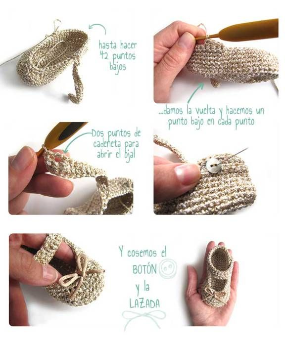 Cómo hacer unos patucos de crochet tipo merceditas | Patrones ...