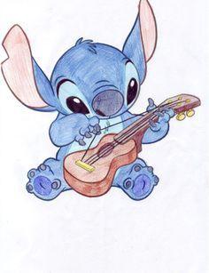 Cute Sketches Of Stitch As Elvis Google Search Zeichnen Disney