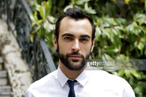 Marco Mengoni poses for a portrait session at Embassy of Italy on May 7, 2014 in Madrid, Spain.