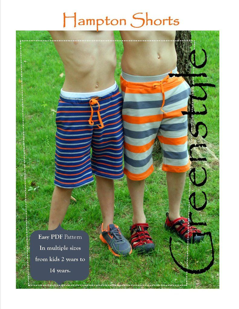Hampton Shorts PDF Pattern and Tutorial for Boys or Girls 2 14 years