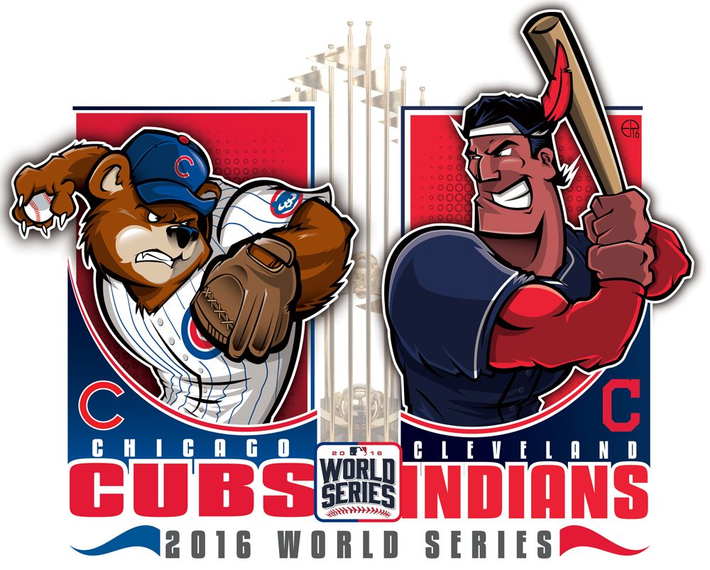 mlb logos cubs vs series indians team epoole88 chicago