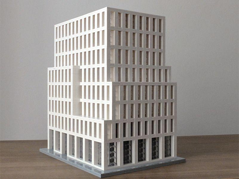Stadthaus Bahnhofstraße, Bremen Architektur mit LEGO | Architecture with LEGO bricks.