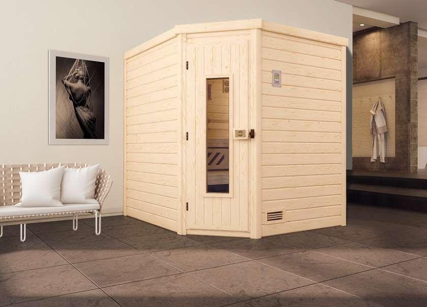 Karibu Saunahaus Hygge Saunahaus, Sauna und Glastüren kaufen