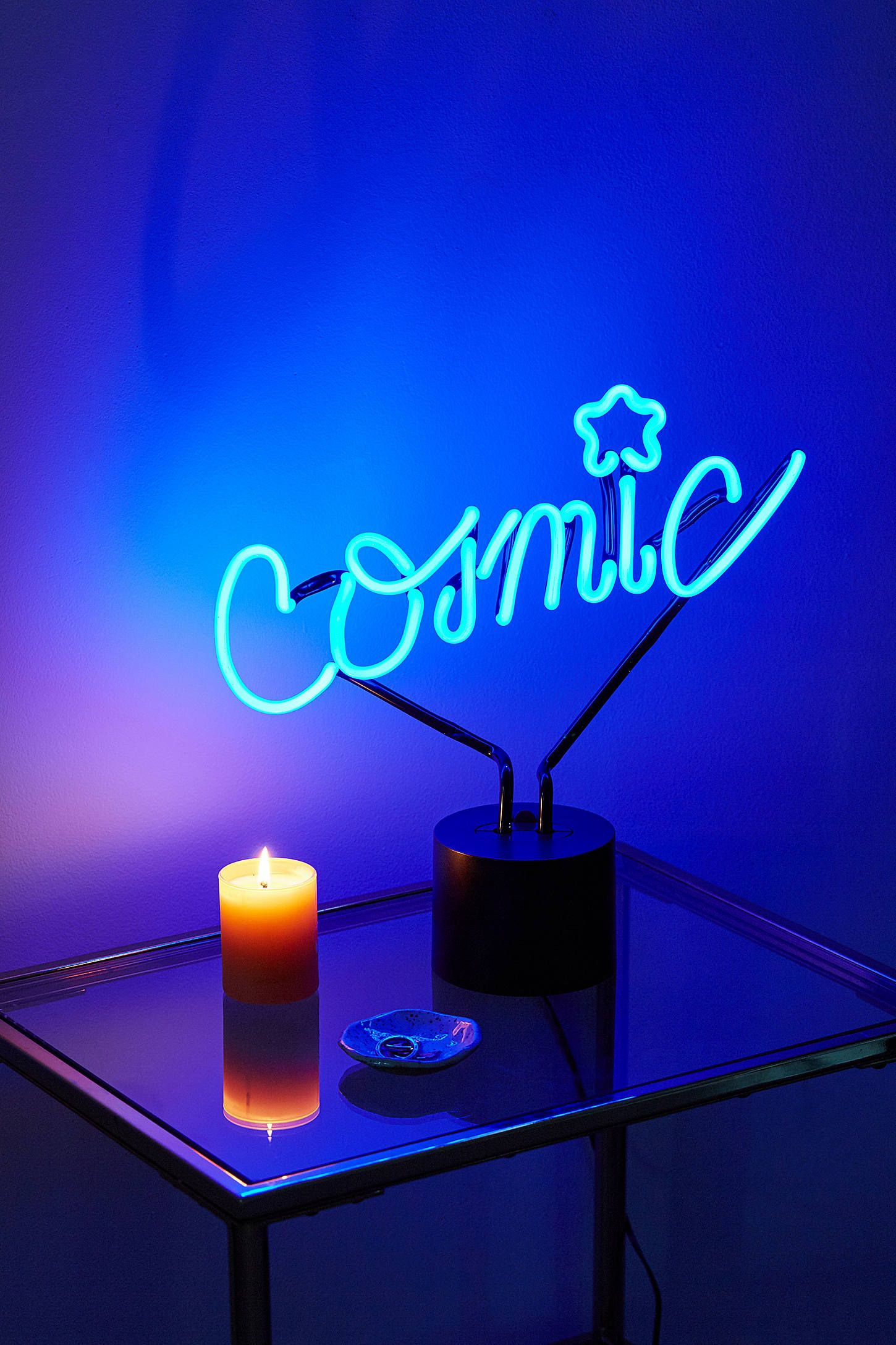 Neon Table Light: Cosmic Neon Sign Table Lamp In 2019