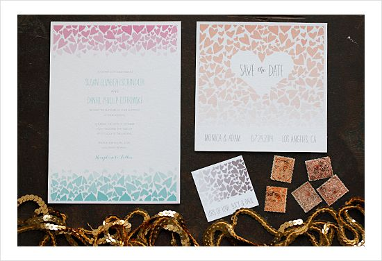 ombre love free printable wedding invitation suite ombre response