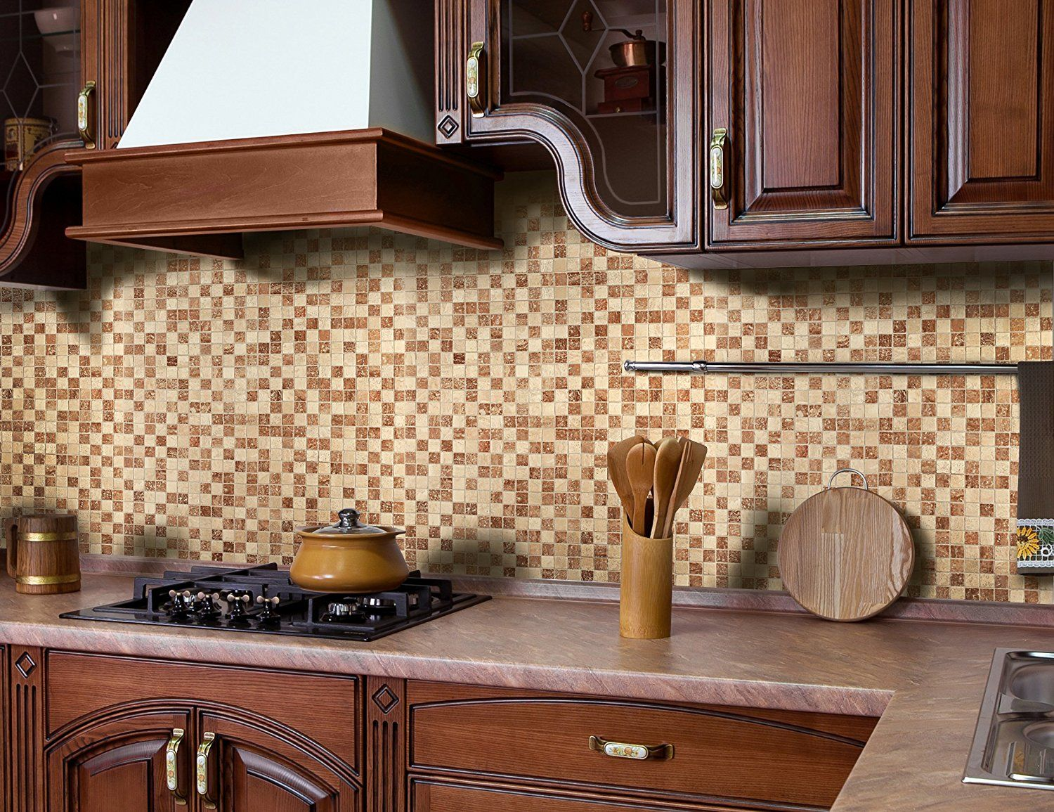 Amazon Instant Mosaic 6 04 104 Peel n stick Natural Stone