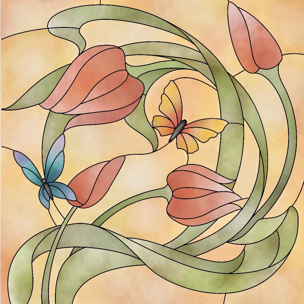 Learn How To Create This Beautiful Stained Glass Look In The Pigment Coloring App Have You Tri Butterfly Coloring Page Colored Pencil Tutorial Coloring Apps