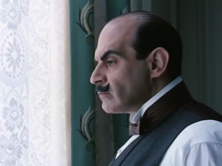 Agatha Christie's meticulous sleuth, Hercule Poirot as played by David Suchet