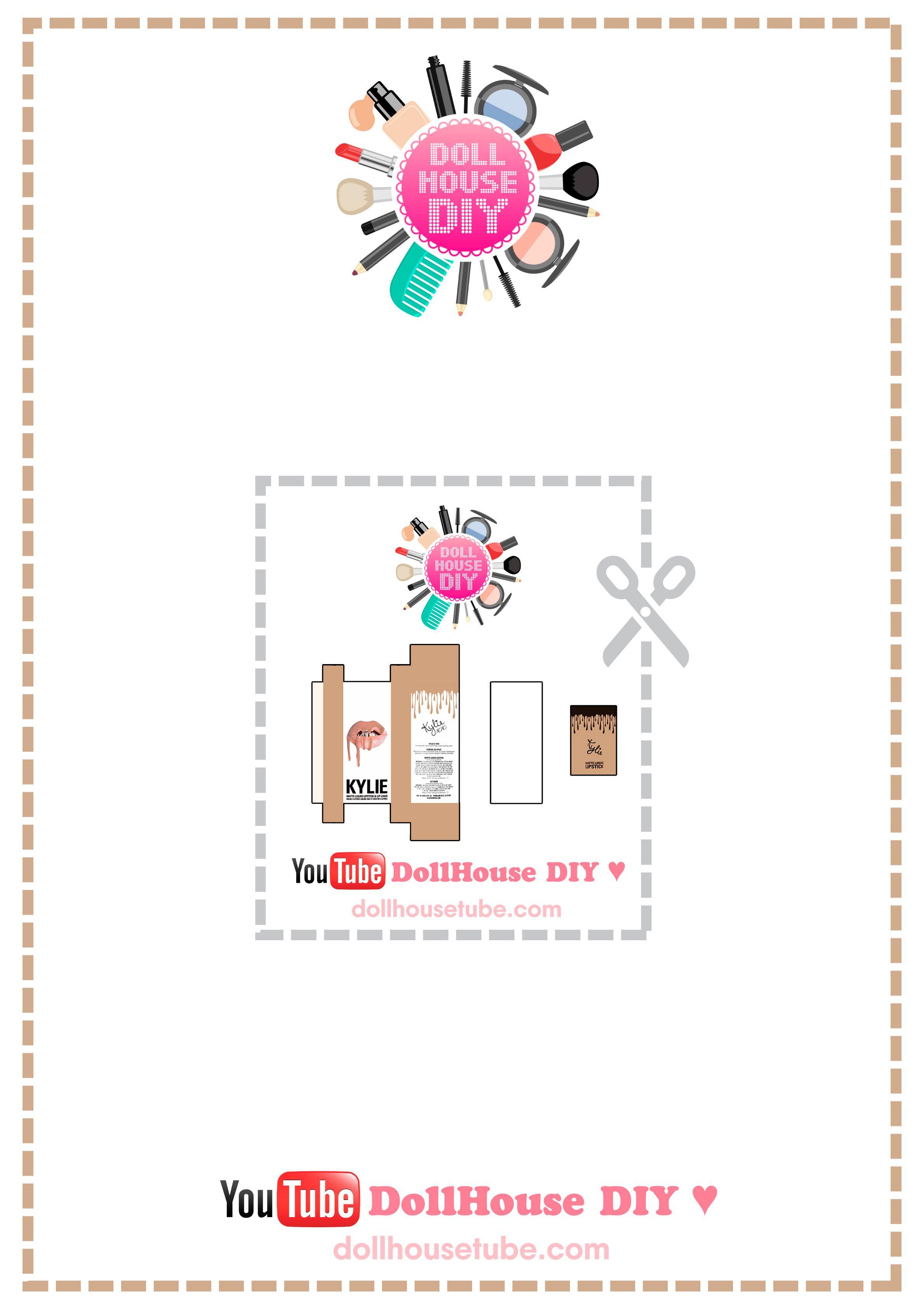 Realistic Miniature LIP KIT by Kylie Jenner Tutorial! DollHouse DIY ♥