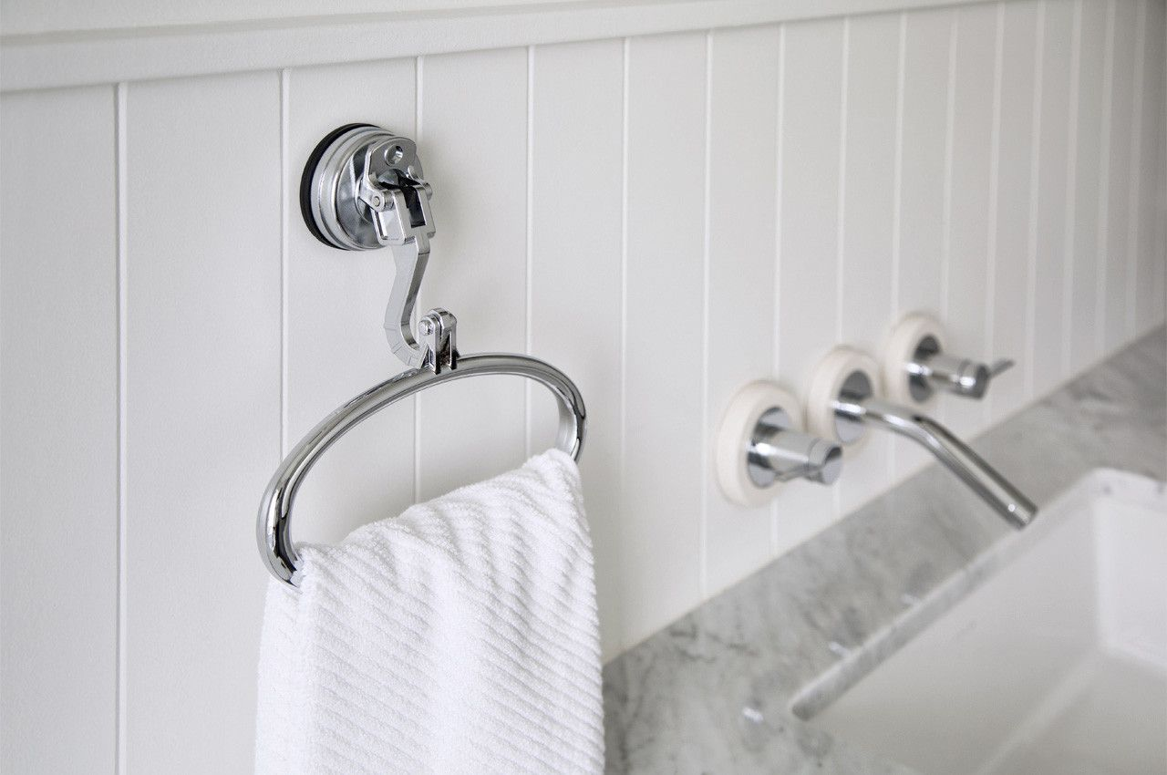 This Suction Cup Towel Ring Softens Any Kitchen Bed And Bath