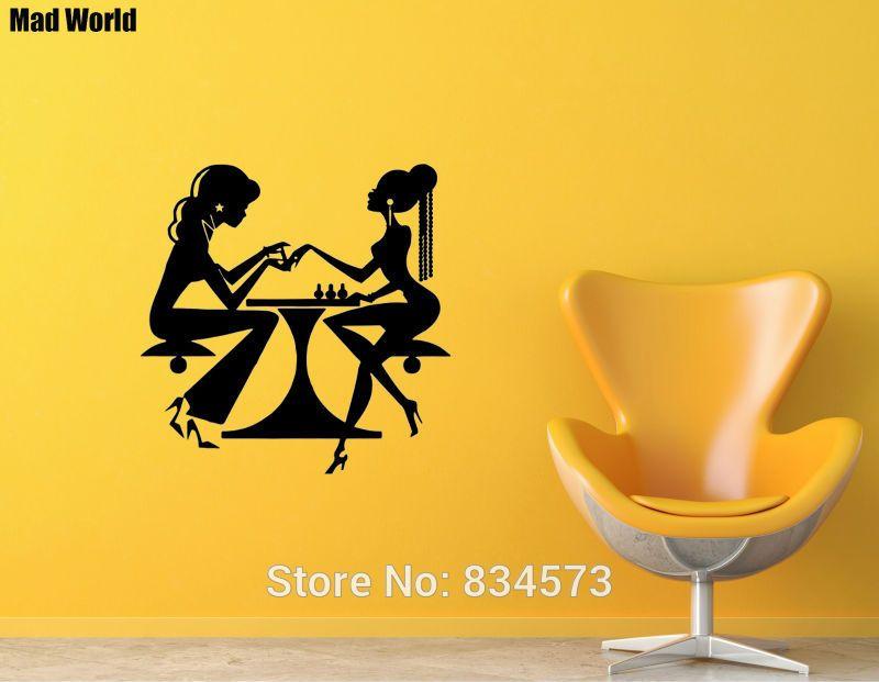 Mad World-Woman Beauty Salon Nail Manicure Wall Art Stickers Wall ...