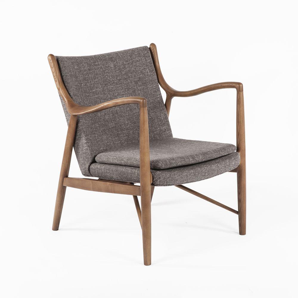 Mid century Modern Danish Finn Juhl Replica Model 45 Easy Chair