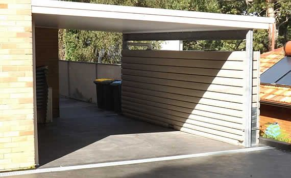 Fence like slimline rainwater tank i need this for Carport fence ideas