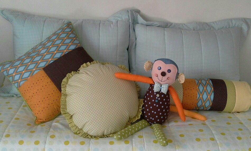 Cama crianças patchwork colorido www.ateliecolorir.com.br