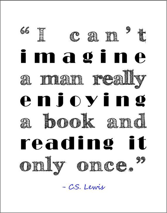 C.S. Lewis literary quote about books and reading typography print  by jenniferdare, $10.00