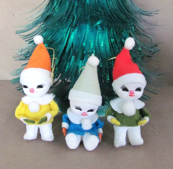 vintage christmas ornaments 1960 s snow by thirstyowlvintage