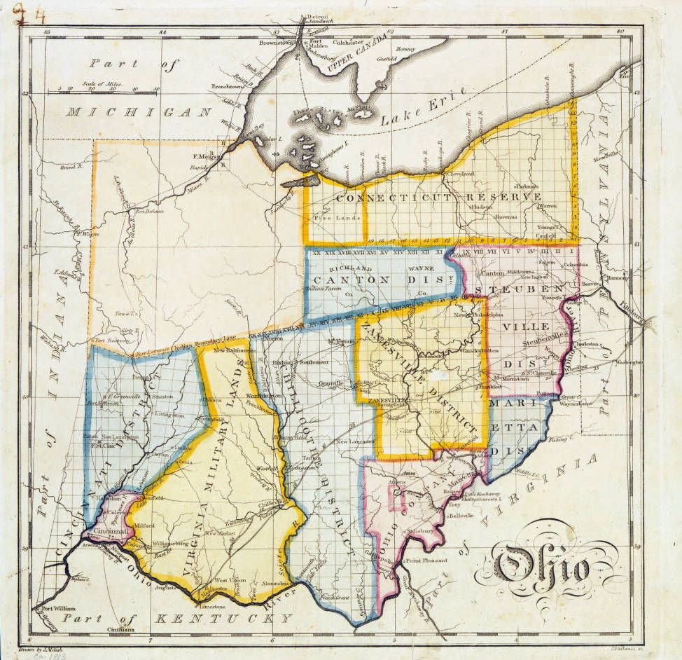 John Melish map of Ohio Ohio history & genealogy