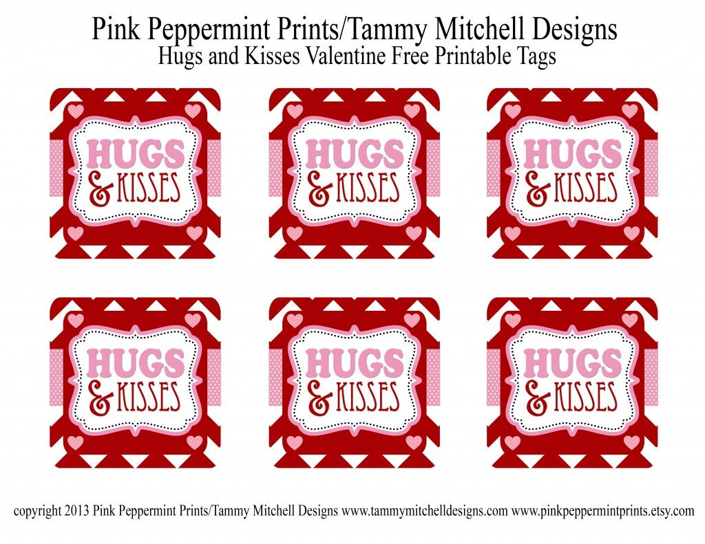 Freebie Hugs And Kisses Valentine Free Printable Tag Card Entertain Fun Diy Par Valentines Printables Free Valentines Printables Valentines Tags Printable