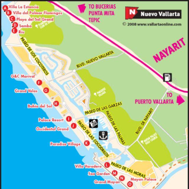 Nuevo Vallarta Map I want to go back take me