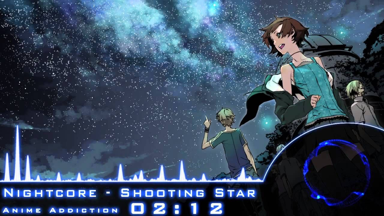 Nightcore Shooting Star Anime Starry Night Wallpaper Night
