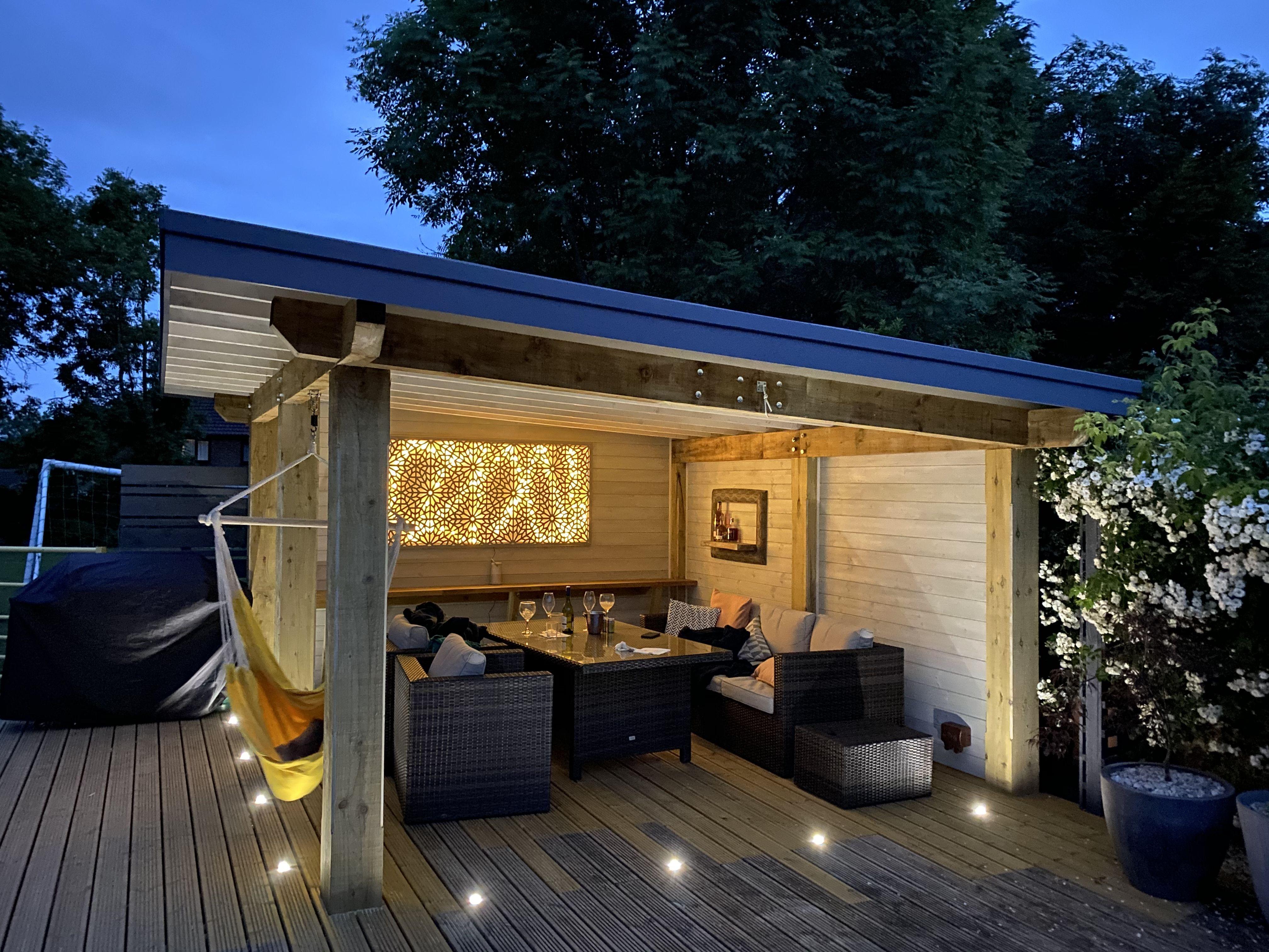Garden Room Backyard Seating Outdoor Patio Designs Backyard Patio Designs Modern garden ideas with bar