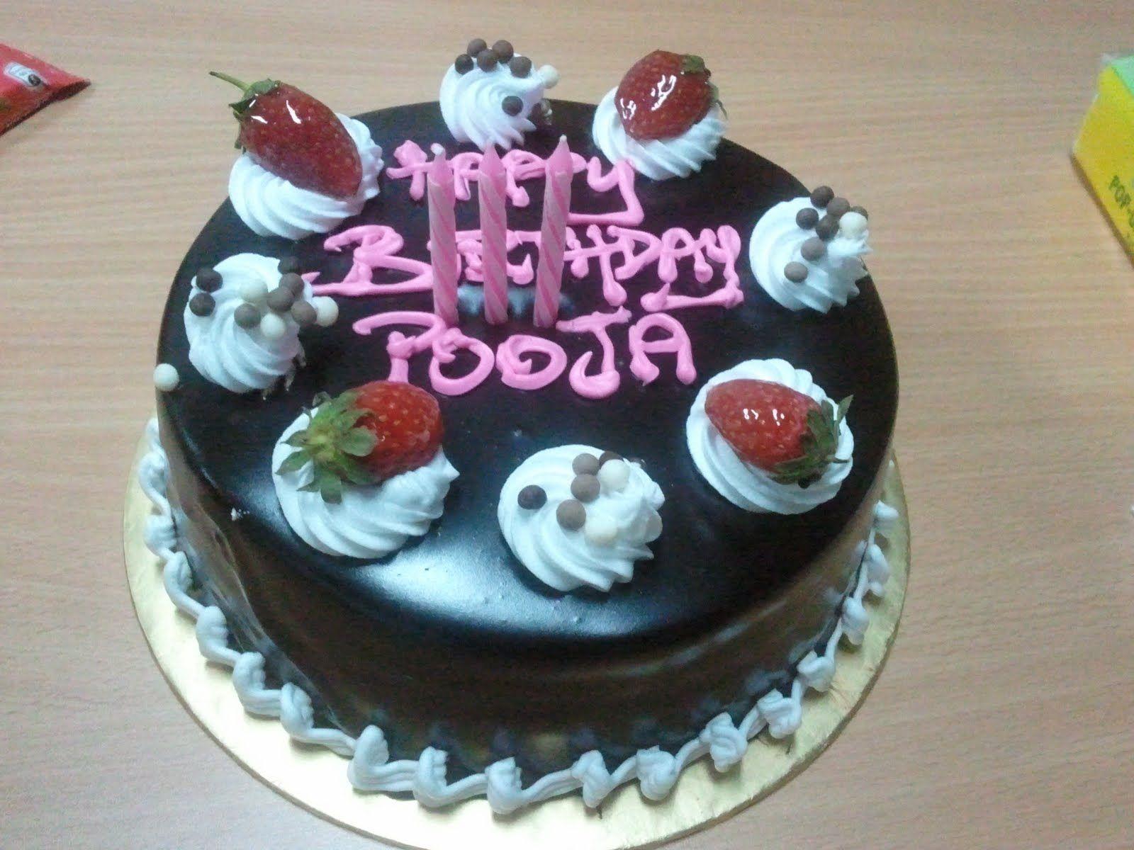 Happy Birthday Pooja Happy birthday cakes, Happy
