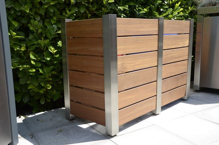 Mülltonnenbox Mülltonnen-Verkleidung Dauerausstellung Garten