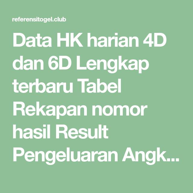 Data Hk 6d 2021