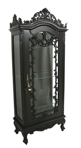 Liked On Pinterest Gothic Display Cabinet In 2019 Dark
