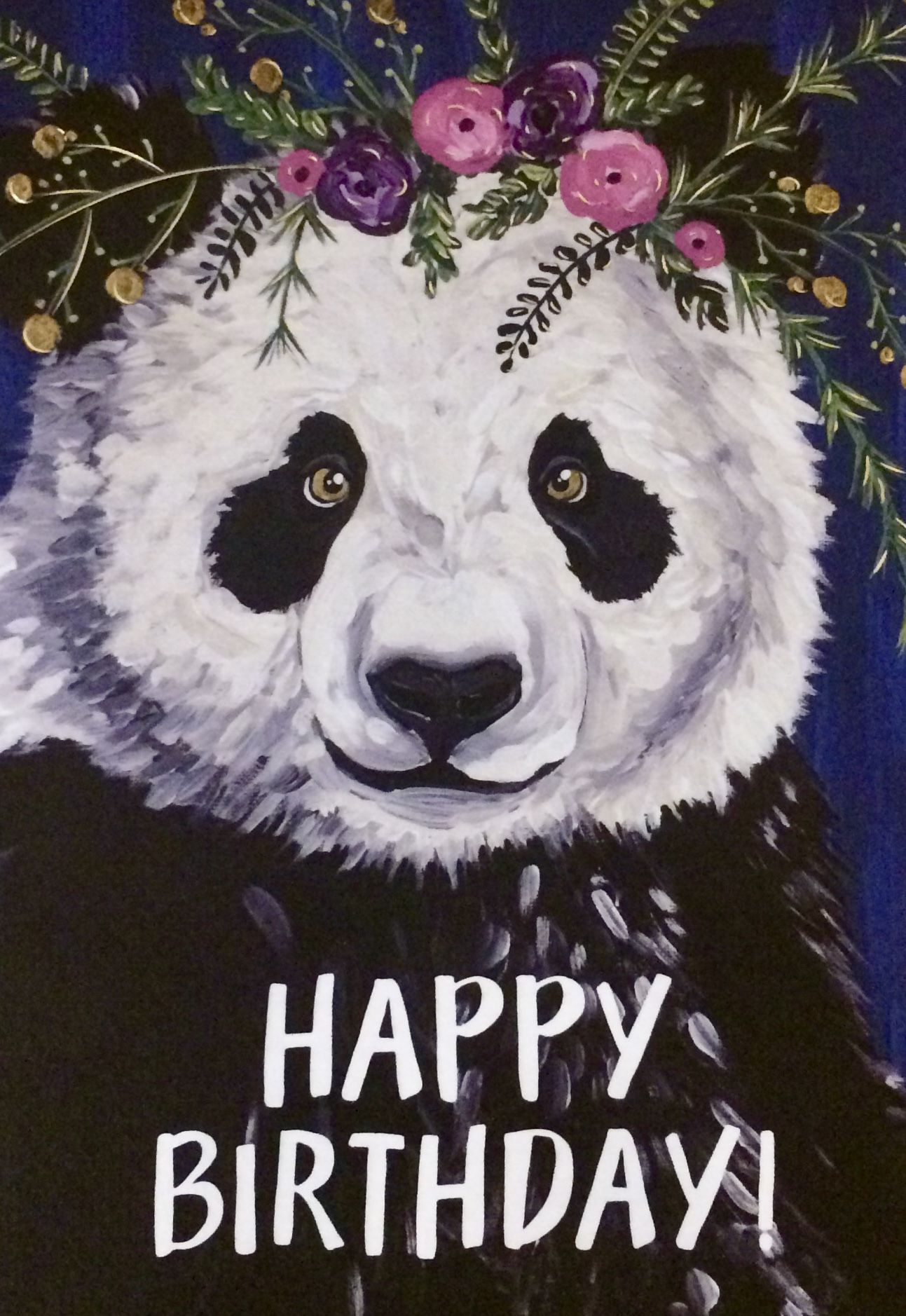 Panda Wild Animal Birthday Card Free Delivery