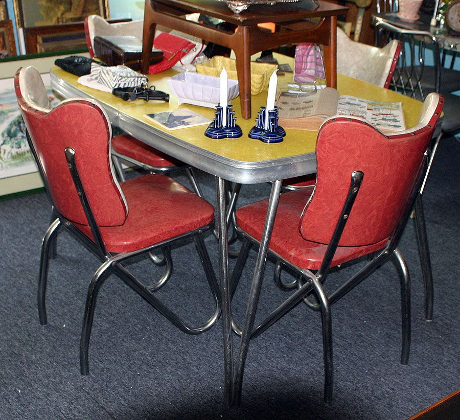 C Dianne Zweig Kitsch n Stuff 1950s Formica And Chrome Tables