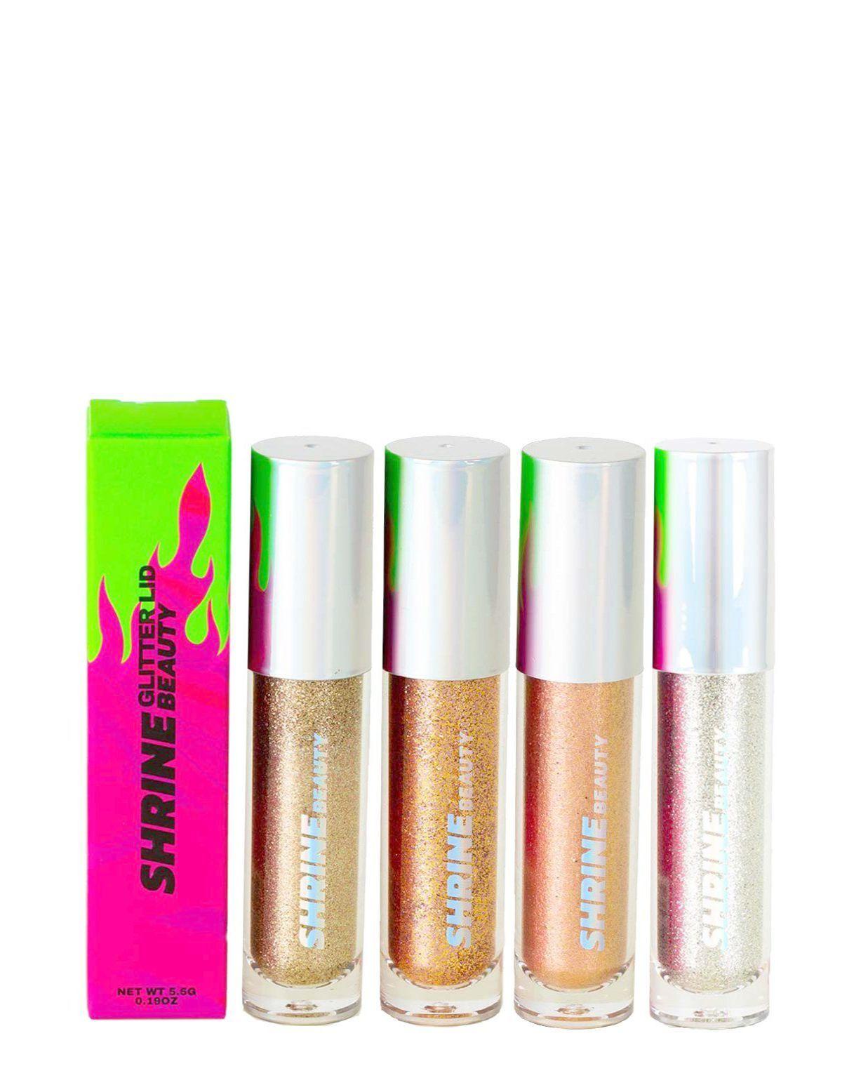Natural Glitter Eyeshadow Palette to Glitter Eyeshadow