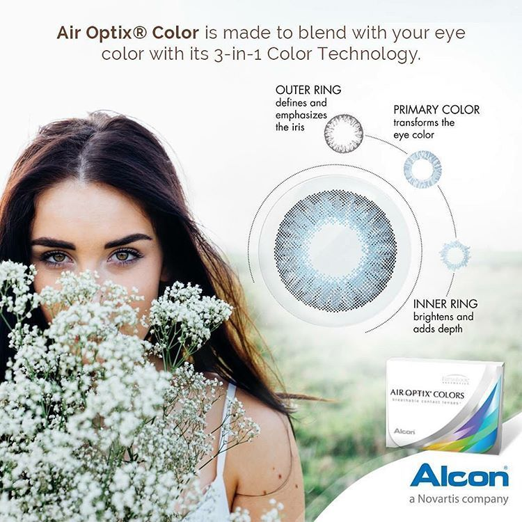 This is why Air Optix® Colors brings out the natural