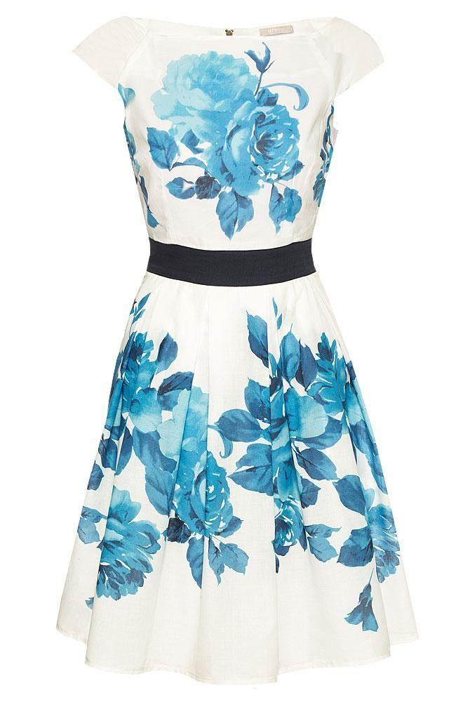 Sommerkleid mit Blumenprint | Kleider, Blumenprint und ...