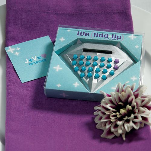 Mini We Add Up Diamond Shaped Calculator Favor Unique Wedding Favors Wedding Favors Cheap Wedding Favors Unlimited